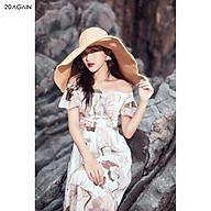 Đầm Maxi 20AGAIN váy thiết kế dài tay bèo, đi biển, đi dạo DDC0101 thumbnail