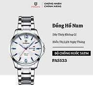 Đồng hồ nam PAGINI PA5533W dây thép không gỉ - Lịch ngày cao cấp thumbnail