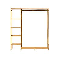 Tủ quần áo trống khung tre (123x30x145cm) thumbnail