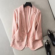 Áo vest linen nữ ve ngóc tay lỡ 2 túi bổ ArcticHunter, thời trang thương hiệu chính hãng thumbnail