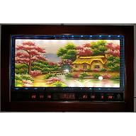 Tranh đá quý đèn Led ngôi nhà hạnh phúc ,Lịch vạn niên -2052 thumbnail