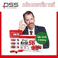 Dầu nhuyễn thể KRILL 56 cao cấp - Red Omega 3 công nghệ mới - liệu trình 5 tháng 5 hộp thumbnail