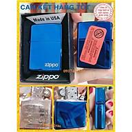 Bật Lửa, hộp quẹt Zippo Màu Xanh Saphire Logo - Có Tem Đỏ thumbnail