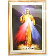 Tranh thêu chữ thập Lòng Thương Xót Của Chúa (44x62cm) chưa thêu thumbnail