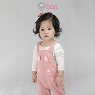 Bộ Jumpsuit quần dài sơ sinh BAA BABY thỏ con xinh xinh cho bé gái - GN-JS05C thumbnail