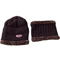 Mũ len kèm khăn nam nữ thumbnail