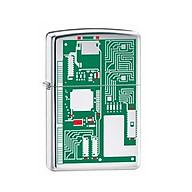 Bật Lửa Zippo Circuit Board Polished Chrome Chính Hãng Usa thumbnail