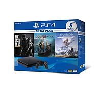 Bộ Máy PS4 Slim 1TB Model CUH-2218B MEGA kèm 3 Game God Of War ,The Last Of Us ,Horizon Zero Dawn - Hàng Chính Hãng thumbnail