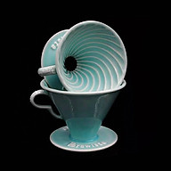 Phễu lọc cà phê V60 sứ cao cấp Brewista Dripper - Màu xanh ngọc thumbnail