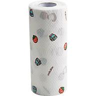 Cuộn giấy lau đa năng nhà bếp 80 tờ in hình cao cấp, có thể giặt được - Tặng 1 khăn lau tay cao cấp thumbnail