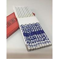 Bộ đũa thờ 10 đôi bằng gốm sứ xanh lam BH12156 thumbnail