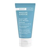 Kem dưỡng ngày chống lão hóa và bảo vệ da Paula s Choice Resist Super Light Daily Wrinkle Defence Broad Spectrum SPF 30 60ml(Nhập khẩu) thumbnail