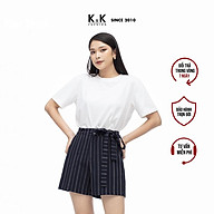 Áo Thun Nữ K&K Fashion ASM06-29 Màu Trắng Cổ Tròn Tay Ngắn thumbnail