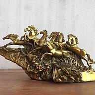 Tượng Ngựa Mã Đáo Thành Công (Bát Mã) bằng đồng thumbnail