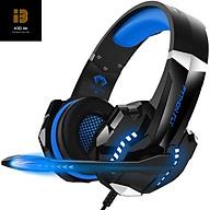 Tai nghe gaming chụp tai PYTHON FLY chống ồn âm thanh stereo cho PS4, PC, Xbox One, PS5, kèm mic đàm thoại, đèn LED, âm bass, vành chụp tai mút mềm cho Laptop Mac-Xanh-Hàng chính hãng thumbnail