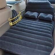 Giường đệm, nệm hơi thông minh du lịch có đầu giường cho ôtô, xe hơi + Kèm bơm điện vòi đa năng, gối hơi sử dụng được trên xe_INS09(Màu đen) thumbnail