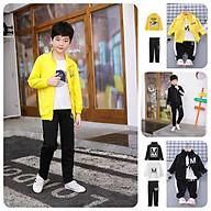BS66Size110-160 (12-40kg)Đồ Bộ cho bé trai. Áo khoác kaki+quần thun+áo thunQUẦN ÁO TRẺ EM-HÀNG QUẢNG CHÂU thumbnail
