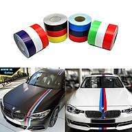 Hình dán xe hơi decal cờ Đức ,Ý, Pháp, M sport dài 1m chất liệu vinyl sẵn keo bóc dính màu sắc nét thumbnail