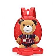 Balo đựng đồ cho mẹ và bé gấu nổi Teddy (màu đỏ) thumbnail
