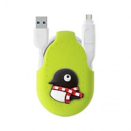 [Bone Collection] iDualink 2-in-1 Dual-head Transmission Line (Type-C)-Penguin thumbnail