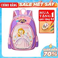 Hàng Chính Hãng Balo mẫu giáo cho bé gái in hình công chúa Sofia tím E508 thumbnail