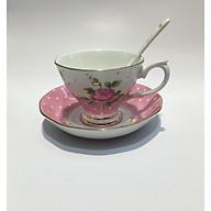 Bộ chén trà 1 người ROYAL 2309 - hoa hồng thumbnail