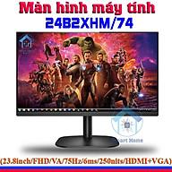 Màn Hình Máy Tính 24 Inch Full Viền AOC 24B2XHM 74 FHD 1920 1080 75HZ Cổng Kết Nối HDMI + VGA Tiện Dụng BH 36 Tháng - Hàng Nhập Khẩu thumbnail