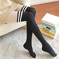 Tất kẻ nữ dáng dài tới đùi phong cách Hàn Quốc dài cổ cao TN09 thumbnail