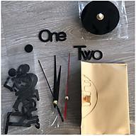 Đồng hồ dán tường 3D phong cách châu âu tráng gương giành cho tường trơn - size 40x40cm - màu đen thumbnail
