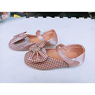 giày búp bê trẻ em chấm ô vuông thumbnail