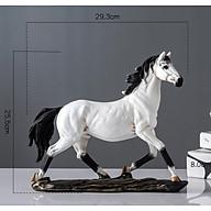 Tượng ngựa trắng xích thố phong thủy mang lại tài lộc, trang trí kệ tủ, quà tân gia thumbnail