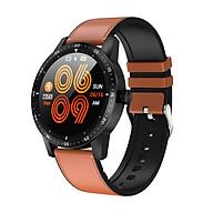Đồng hồ thông minh đo nhịp tim, huyết áp T5 ( Sang trọng, độc đáo ) - Hàng Nhập Khẩu- Dây silicone nâu thumbnail