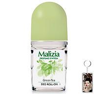 Lăn khử mùi trà xanh Malizia Profumo Green Tea 50ml (nữ) tặng kèm móc khóa thumbnail