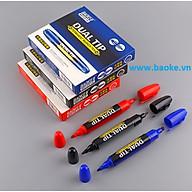 Hộp 6 cây Bút lông dầu 2 đầu MP2918 màu xanh thumbnail
