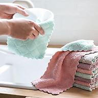 Sét 20 khăn lau 2 mặt siêu thấm- Khăn lau không phai màu không rụng sợi- nhanh khô- Khăn lau bếp, khăn lau kính, lau bát lau tay thumbnail