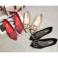 Giày Búp Bê Nữ Mũi Nhọn Da Lộn Êm Chân Mery Shoes - MBS259 thumbnail