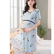 Đầm, váy bầu và sau sinh chất cotton thun có thiết kế cho con bú ngắn tay mặc mùa hè giá rẻ AZ300 thumbnail
