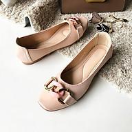 Giày búp bê nữ Thái Lan đế bằng đính nơ khóa Emerald thời trang, nhẹ mềm êm chân dễ dàng di chuyển và phối đồ - màu hồng phấn Nude thumbnail