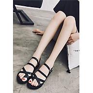 Giày sandal xỏ ngón quai gài đế dày 2cm - D80 thumbnail