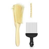Adjustable Hair Brush Scalp Massage Comb Black Fist Afro Pick Metal Wide Teeth Hair Comb Set Women Detangle Hairbrush thumbnail