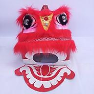 Đầu lân vuông trung thu có đèn 25cm x 25cm x 24cm - màu đỏ thumbnail