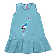 Đầm Xanh Xám Đuôi Cá Đính Chim Bé gái Cuckeo kids - T41919 thumbnail