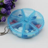 Hộp nhựa chia thuốc 7 ngăn (giao màu ngẫu nhiên) thumbnail