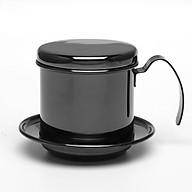 Phin pha cà phê inox cao cấp( Màu Đen) thumbnail