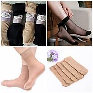 Combo 10 đôi tất da chân nữ loại ngắn loại tốt, mỏng mát, dai khó rách v thumbnail