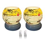 Combo 2 đèn xông tinh dầu MNB09 và 2 bóng đèn thumbnail