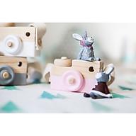 Máy ảnh gỗ nhiều màu đồ chơi cho bé thumbnail