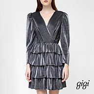 GIGI - Đầm mini cổ V tay lở Wrap Bust G2105202166H-88 thumbnail