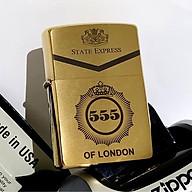 Bật lửa Zippo Chrome 555 OF LONDON Bóng (Chrome vàng) - Zippo Fullbox thumbnail