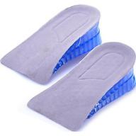 Lót giày tăng chiều cao gel nửa bàn 2 lớp - Xanh Dương (cao 4 cm) thumbnail